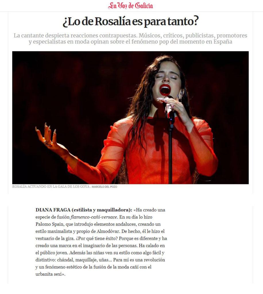 Diana Fraga Maquillaje moda Prensa - Estilista - Experta tendencias  Voz de Galicia